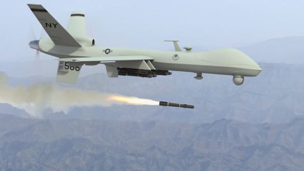 Reaper Drone Fires Missile