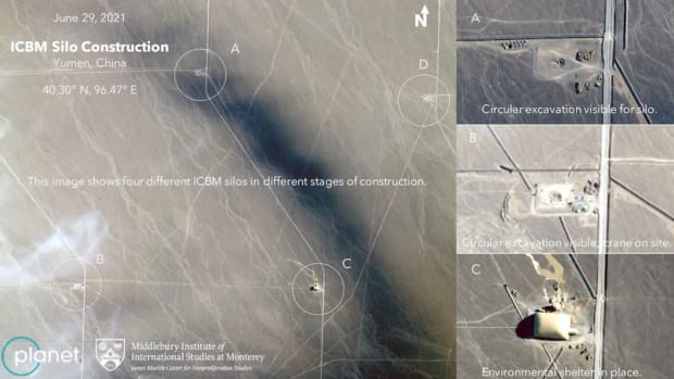 Suspected Missile Silo Construction Sites in China