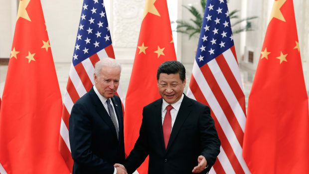 Joseph R. Biden Jr., then vice president, with President Xi Jinping of China in 2013