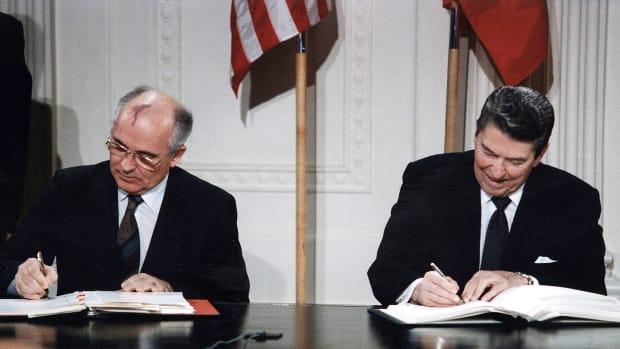 U.S. Russia Reagan Gorbachev INF Treaty