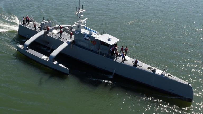 How the Navy Hopes Robot Warships Will Deter China