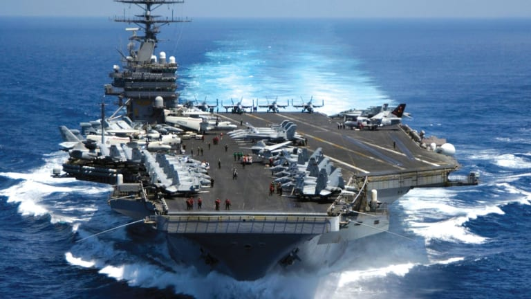 """Navy """"Moves-Out"""" on Operating 11 Aircraft Carriers"""
