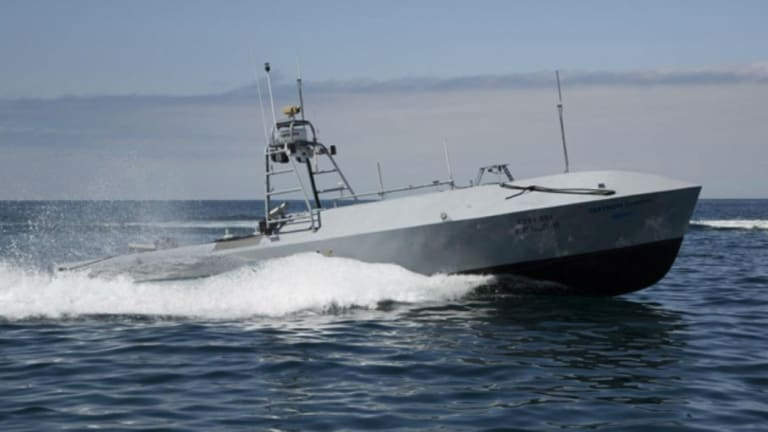 Navy Arms Unmanned Attack Drone Boats With Weapons, Guns & Missiles