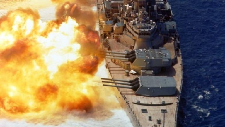 What Would a Battleship Attack do to an Abrams Tank