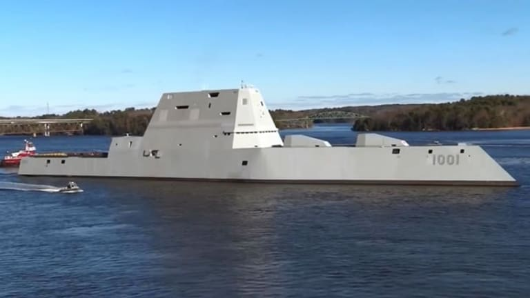 Navy to Deliver 2nd Stealthy Zumwalt-Class Destroyer in March