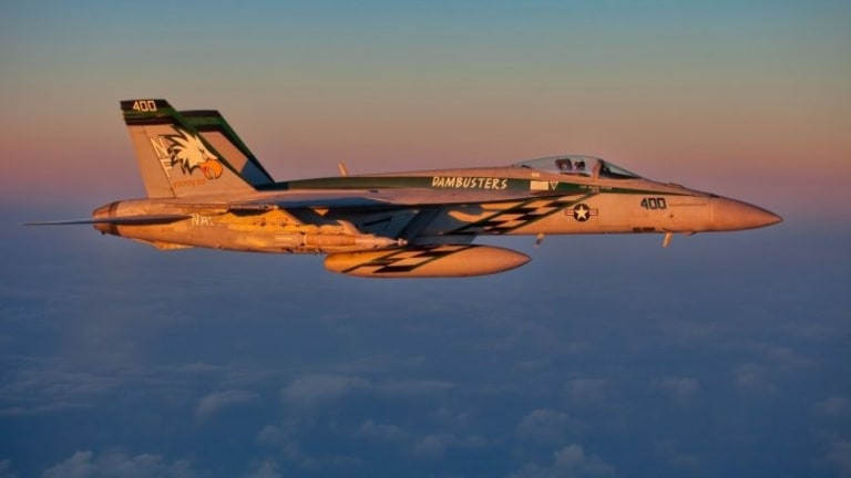 Navy Budget Adds 14 F/A-18 Super Hornets -- Fly to 2040s