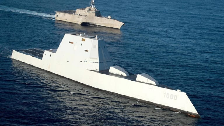"""Stealth at Sea: 3 New Navy Destroyers Now """"In the Water"""""""