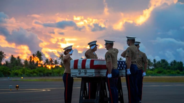 Remains Believed to be WWII Vets Found on Tarawa Return to U.S.