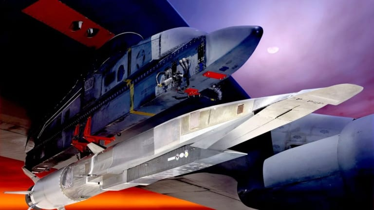 Air Force to Army B-52 With Hypersonic Missiles