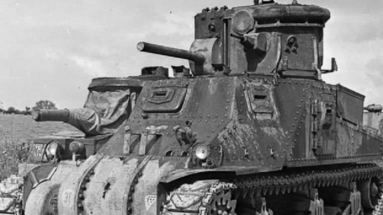 US Giant Tank-Mounted Lamp Blinded German Troops
