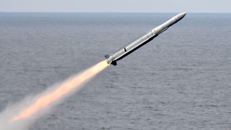 "Navy Missile Destroys ""Sea-Skimming"" Attacks"