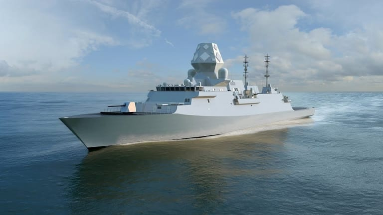 """Navy Plans """"Blue Force"""" Open Water Weapons Strategy for New Frigate"""