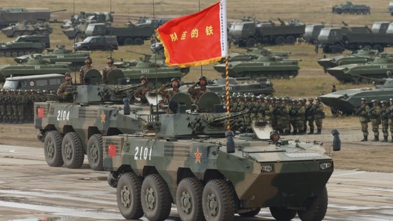 Chinese Amphibious Assault Vehicle Threats Attack on Taiwan