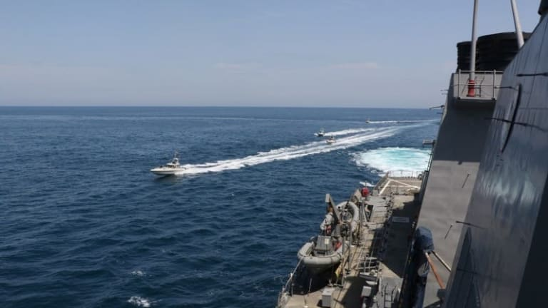 """Navy Ships """"Authorized"""" to Destroy Iranian Small Boats -- How Would They Do It?"""