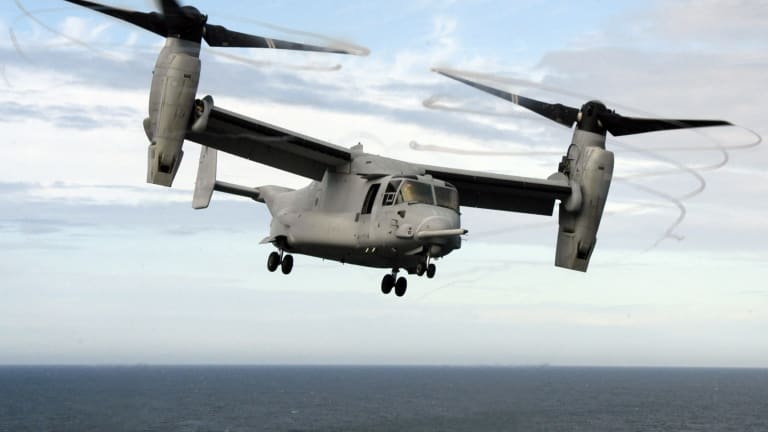 Navy Osprey to Conduct Carrier Night Missions