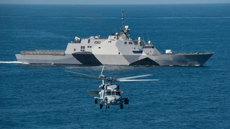 Navy Littoral Combat Ship to Operate Swarms of Attack Drone Ships
