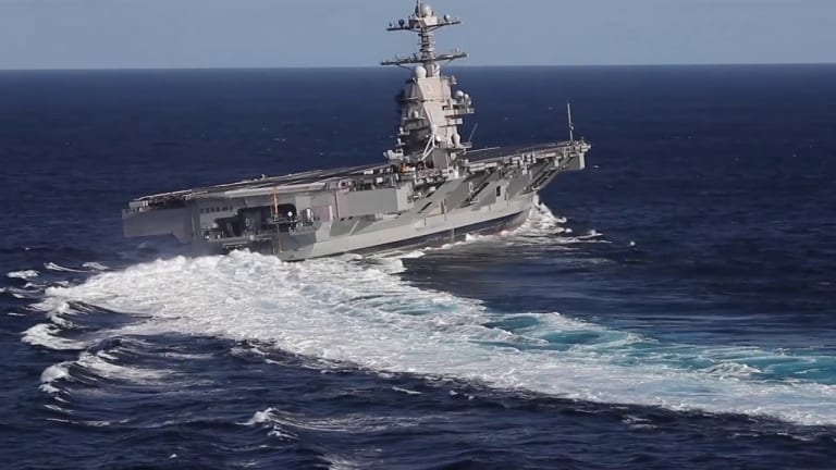 USS Ford Flight Deck Certified For All Fighters, Surges Toward War