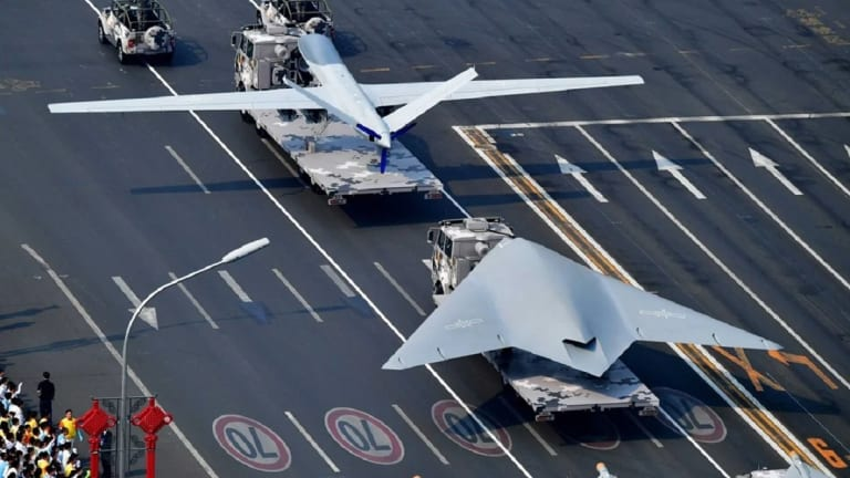 China Parades New Armed Stealthy Attack Drone