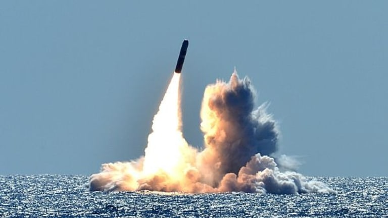 Navy Test-Fires Trident II D5 Sub-Launched Nuclear Weapons