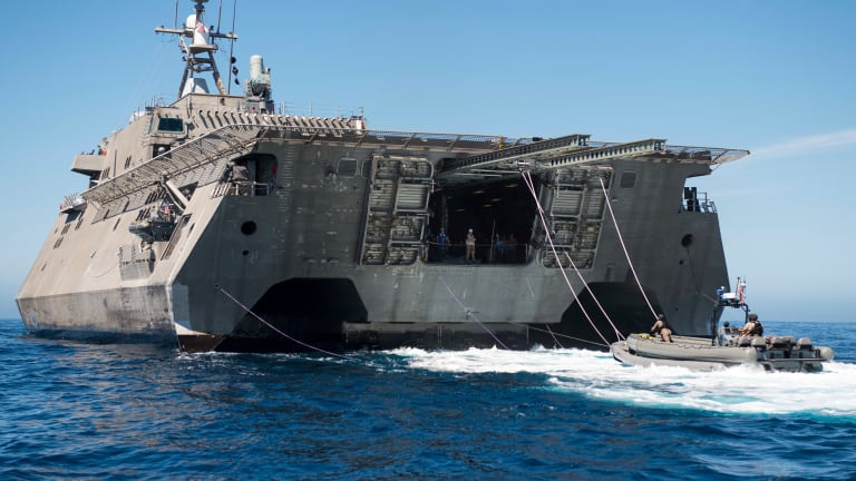 New LCS-Launched Video-Guided Undersea Warhead Explodes Enemy Targets