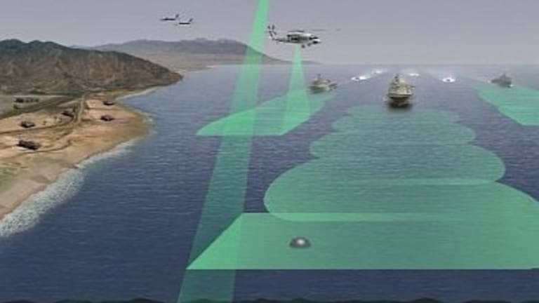 Navy Helicopter-Laser Weapon Attacks & Destroys Sea Mines