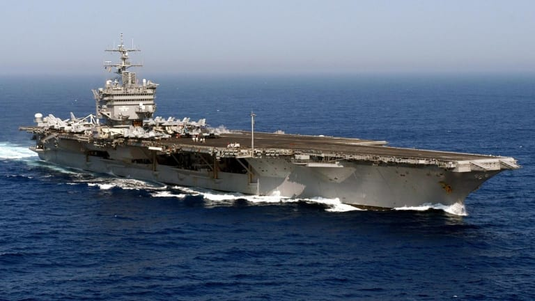 In 1985, a Navy Aircraft Carrier Almost Sank Off California