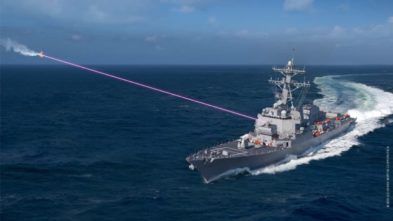 New Navy Multi-Function Ship-Fired Laser Attacks Drones, Conducts ISR