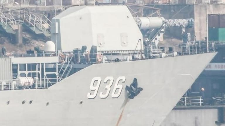 A Chinese Warship Appears to Have a Ship-Mounted Railgun