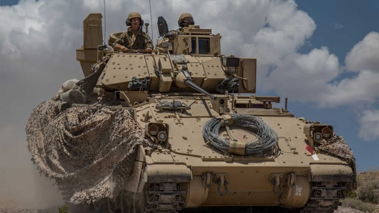 Armored Vehicles Take Damage From Enemy Fire -- Then Self-Heal? Yes