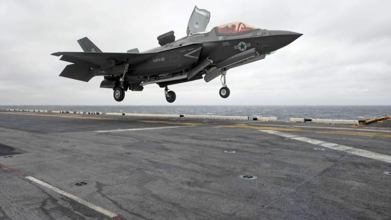 Navy Historic First: F-35B Lands on Amphib Assault Ship for Deployment