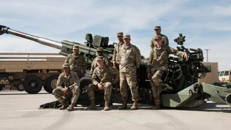 See Huge M777 Howitzer US Marines Burned out Fighting ISIS in Syria