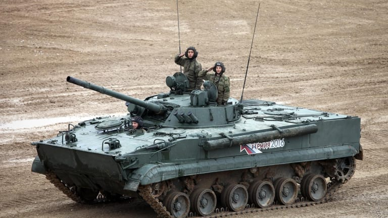 This is Russia's BMP-3M Infantry Fighting Vehicle