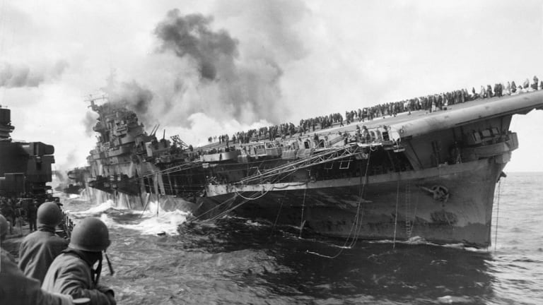 The Terrifying Tale of How This U.S. Aircraft Carrier Nearly Sank