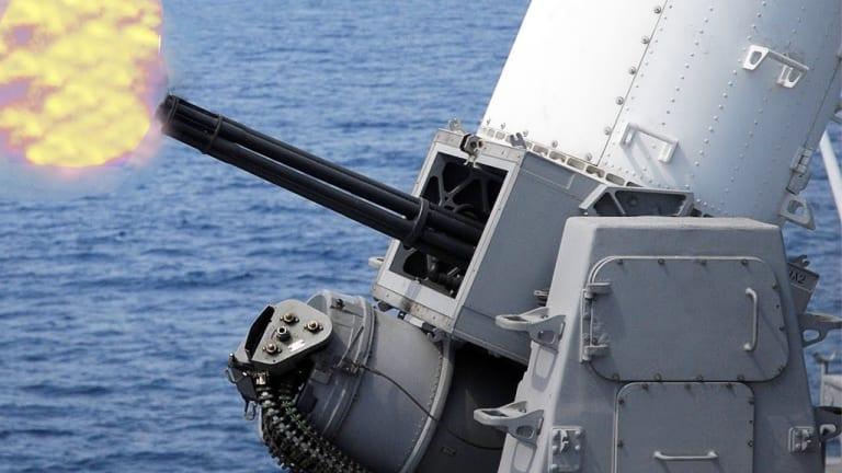 Navy Upgraded CIWS Weapon Attacks Small Boats