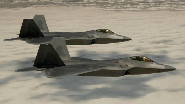 """In 2009, An F-22 Raptor Was """"Killed"""" in a Mock Battle (Thanks to France)"""
