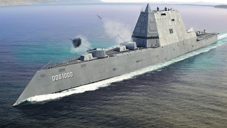 Navy Stealthy Zumwalt Destroyer May Fire Conventional Prompt Strike Missile