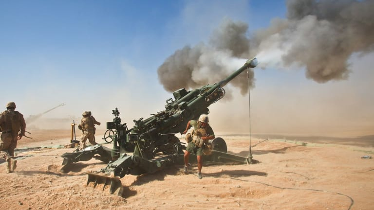 New Army Artillery Round Changes Course to Hit Targets on Back Side of Mountain