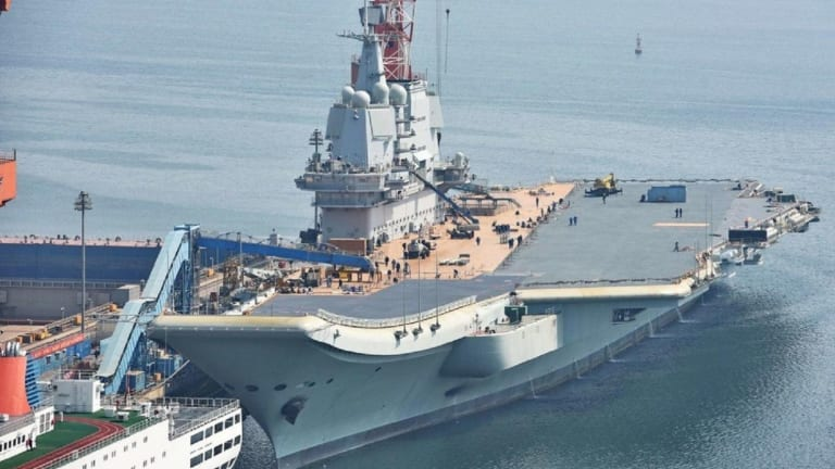 This Image Can Only Mean One Thing: China's New Aircraft Carrier Is Almost Ready