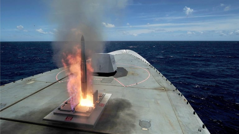 """New Navy Ship-Defense Missile Destroys Target With High-Tech """"Active Seeker"""""""