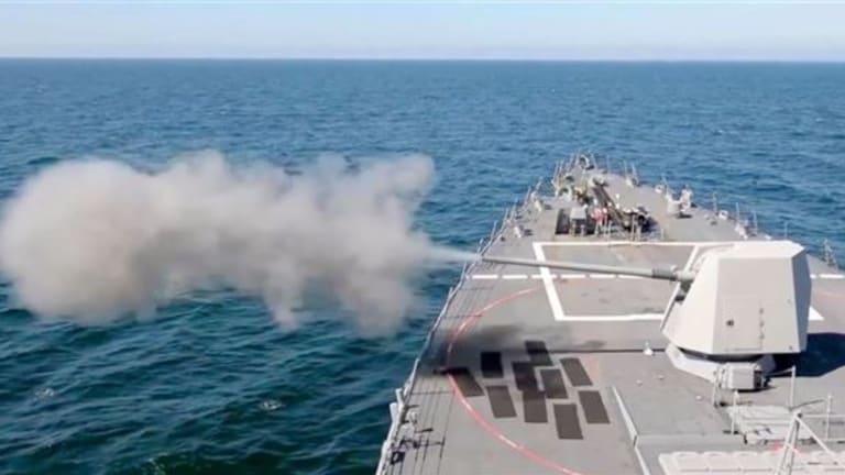 Navy to Fire Rail Gun Round from 5-inch Guns