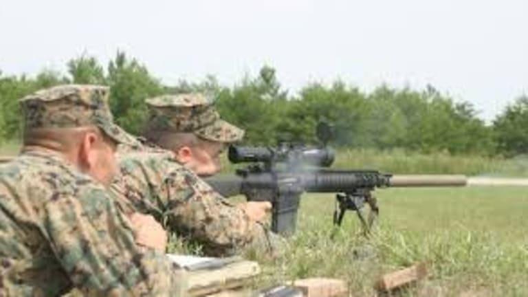 Marine Snipers Train in Jordan