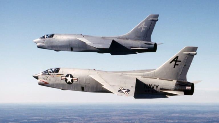 Vietnam era crusader fired four guns and sidewinder missiles