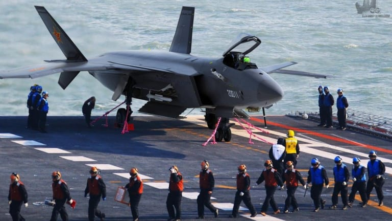 China May Soon Have Stealth Fighters for Its Aircraft Carriers