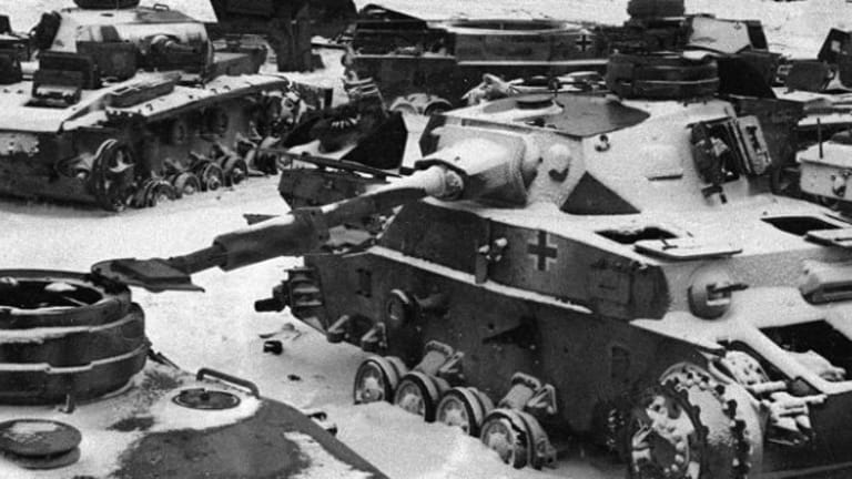 A German Tank Battalion of Panzers Fought to the End in Icy  Stalingrad