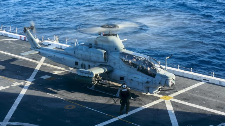 Navy AH-1Z Test Flies New Joint Air Ground Missile