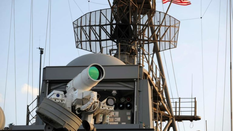 The U.S. Navy Will Soon Have Megawatt Laser Cannons on Its Warships