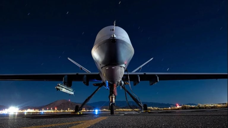 """Air Force Reaper Drone Fires """"Air-to-Air"""" Missile"""