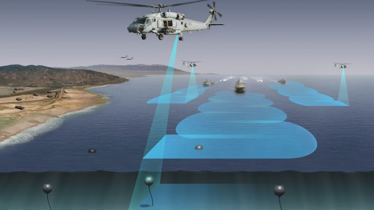 Navy Improves Helicopter-Fired Laser Weapons to Counter Mines