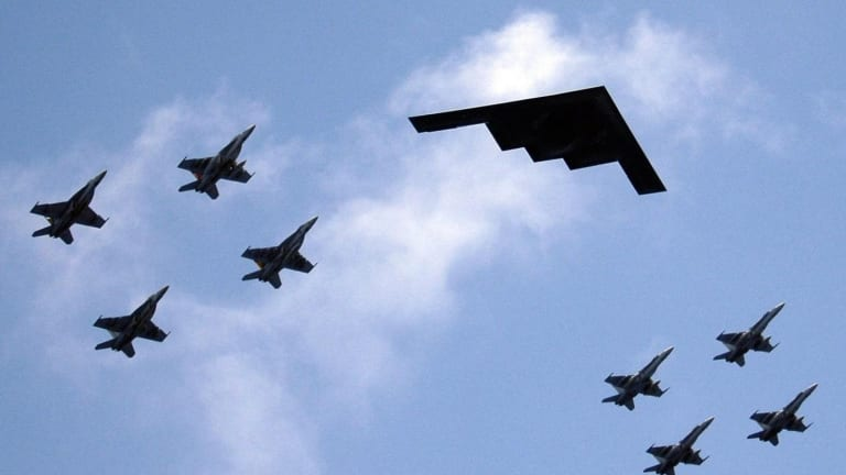 Stealth F-22s, F-35s and B-2s vs. North Korea: Who Wins in a War?