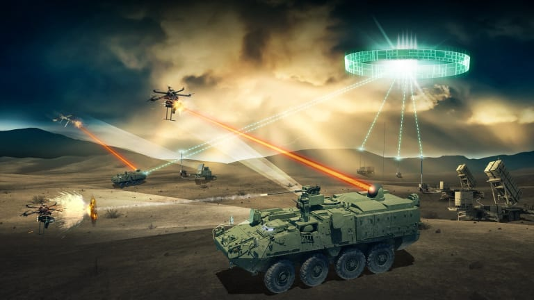 """Army """"Lase-off"""" Competition to Fire Lasers From Strykers at Enemy Drones"""